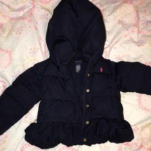 Ralph Lauren ruffled down jacket with hood